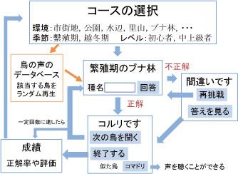 図2.鳴き声クイズの構成案.
