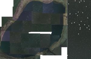 三角沼の空撮